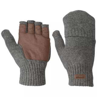 Outdoor Research OR Mens Lost Coast Fingerless Mitts pewter XL