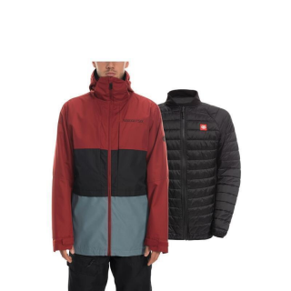 MNS SMARTY 3-IN-1 FORM JACKET Rusty Red Colorblock XL