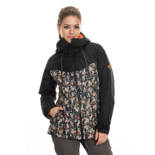 WMS ATHENA INSULATED JACKET Black Speckle Colorblock S
