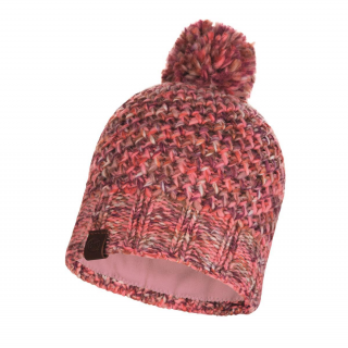 Knitted & Fleece Band Hat Margo-pink-one size