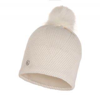 Buff Knitted & Fleece Band Hat Disa-weiß-one size