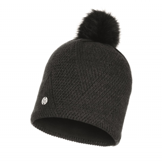 Knitted & Fleece Band Hat Disa-schwarz-one size