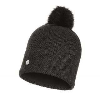 Buff Knitted & Fleece Band Hat Disa-schwarz-one size