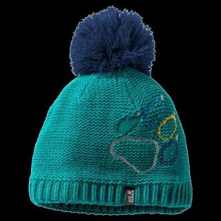PAW KNIT CAP KIDS-green ocean-M